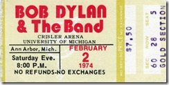 Bob Dylan & The Band | Ann Arbor, 1974
