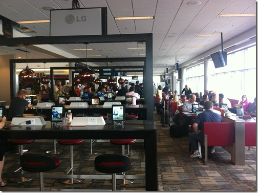 Airport Wi-fi, Workspaces, and iPads at Minneapolis/St. Paul Airport (MSP)