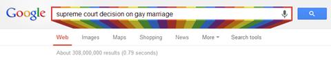DOMA Decision Colors | Google
