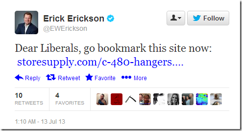 Erick Erickson's Coat Hanger Tweat