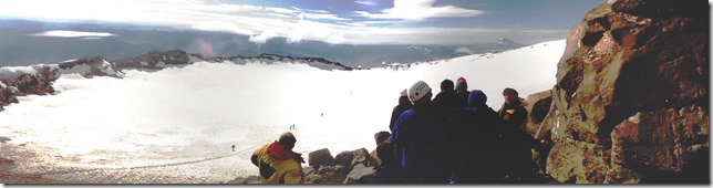 Panorama View of Mt. Rainier Crater from Columbia Crest | 1995