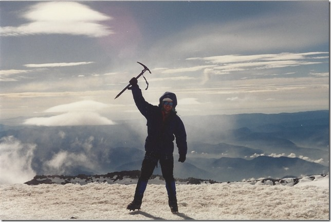F. Andy Seidl on Mt. Rainier Summit | 1995