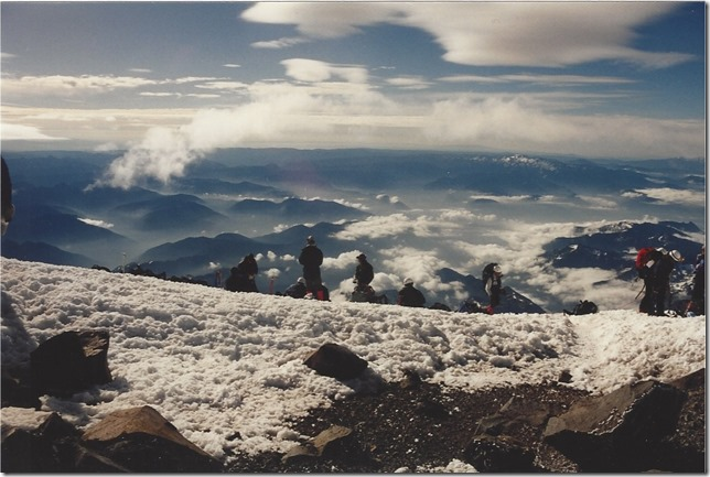 Arrival at Mt. Rainier Summit | 1995