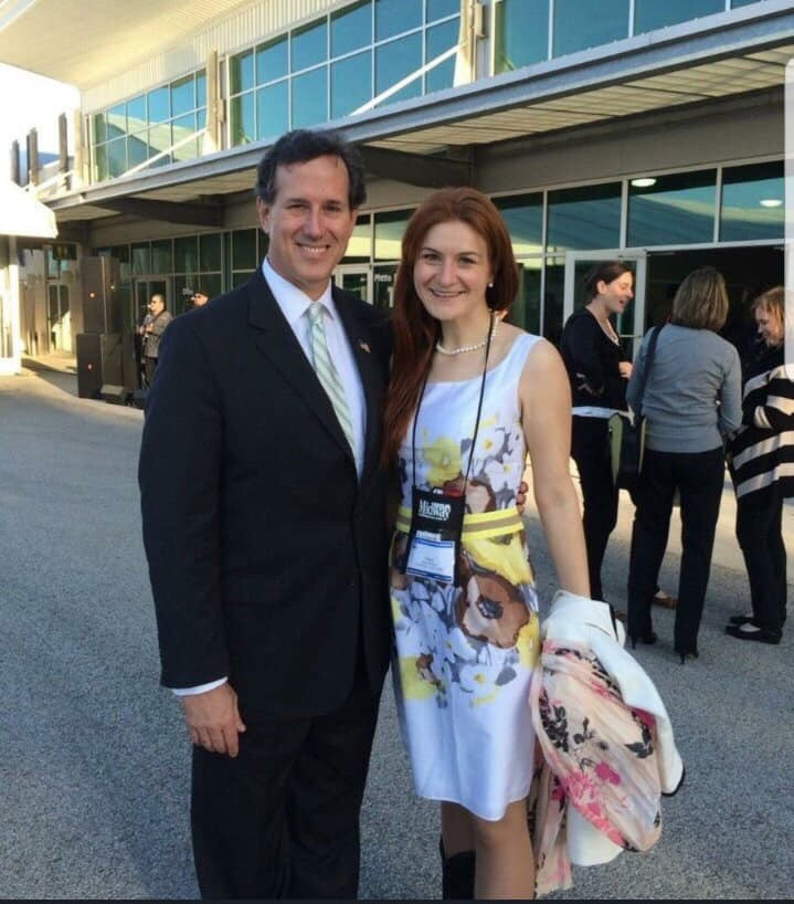 Senator Rick Santorum and Russian Agent Maria Butina